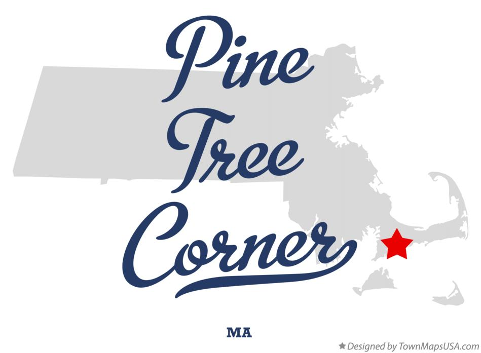 Map of Pine Tree Corner Massachusetts MA