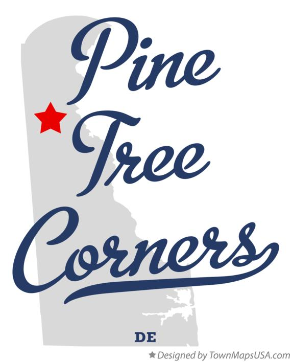 Map of Pine Tree Corners Delaware DE