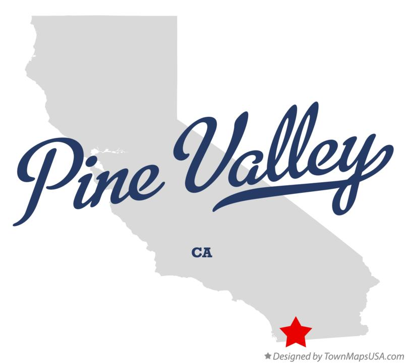 Map of Pine Valley California CA