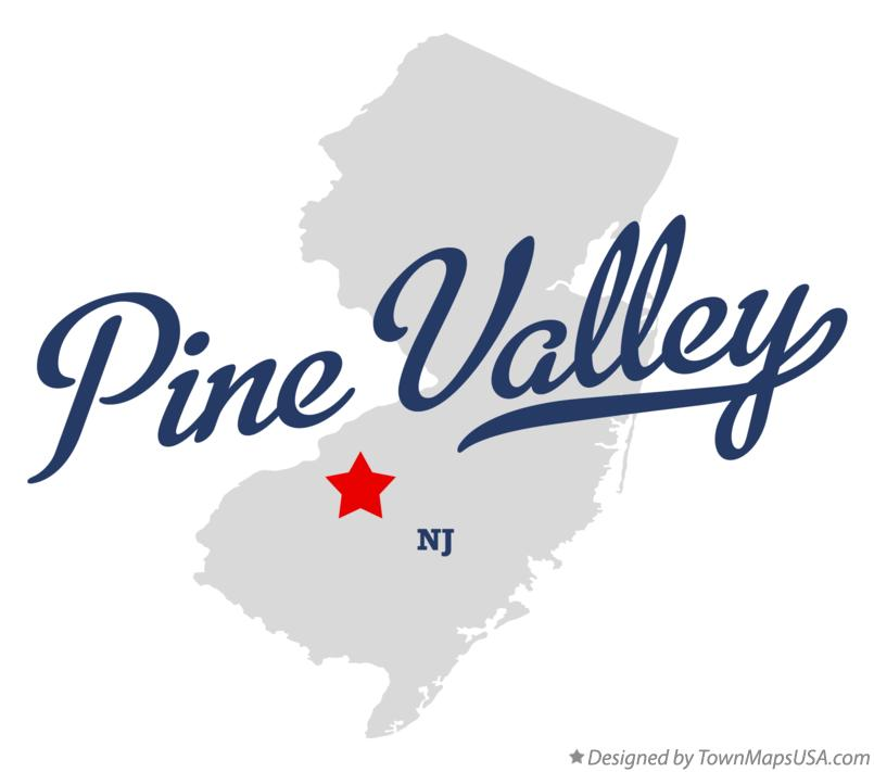 Map of Pine Valley New Jersey NJ
