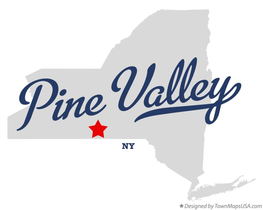Map of Pine Valley New York NY