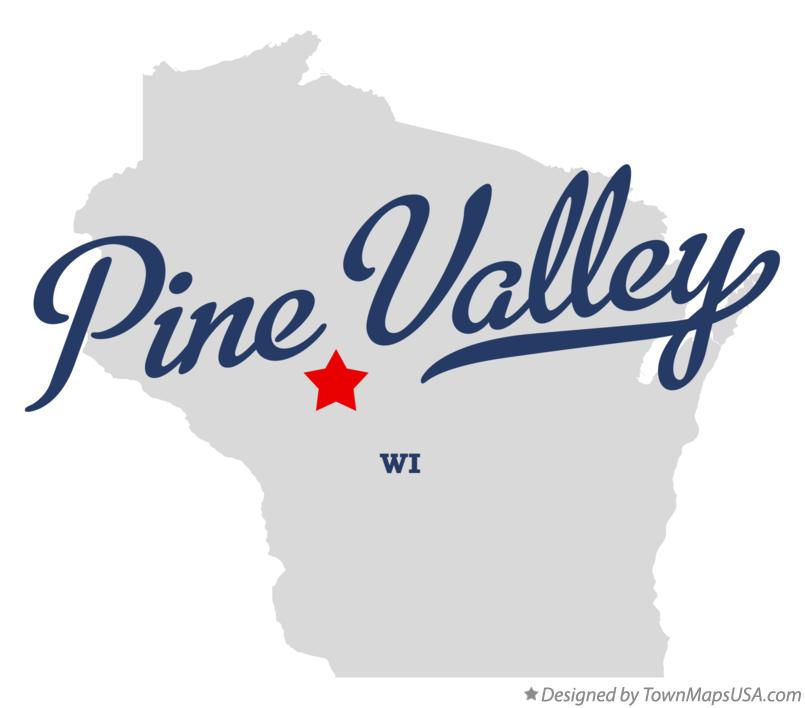Map of Pine Valley Wisconsin WI