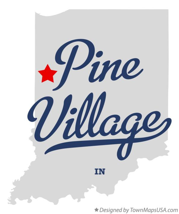 Map of Pine Village Indiana IN
