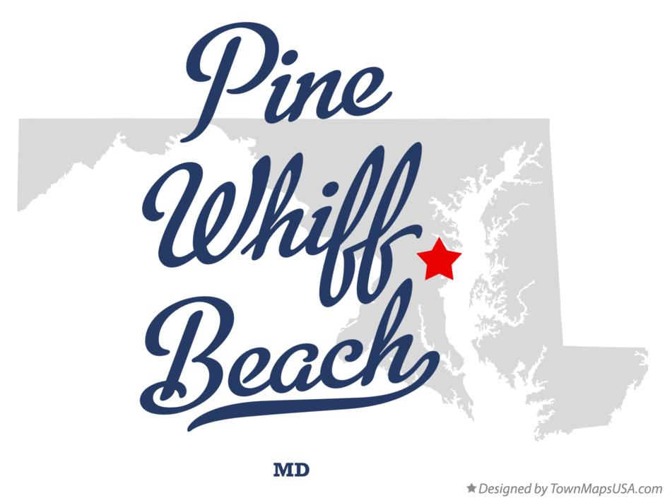 Map of Pine Whiff Beach Maryland MD