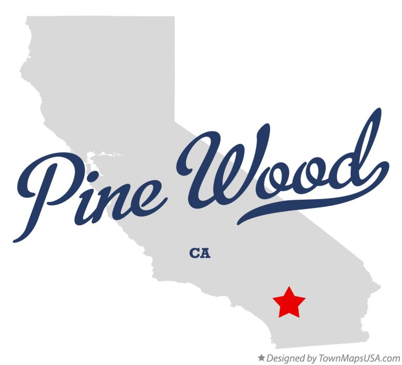 Map of Pine Wood California CA