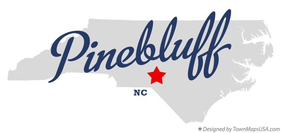 Map of Pinebluff North Carolina NC