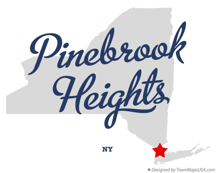 Map of Pinebrook Heights New York NY
