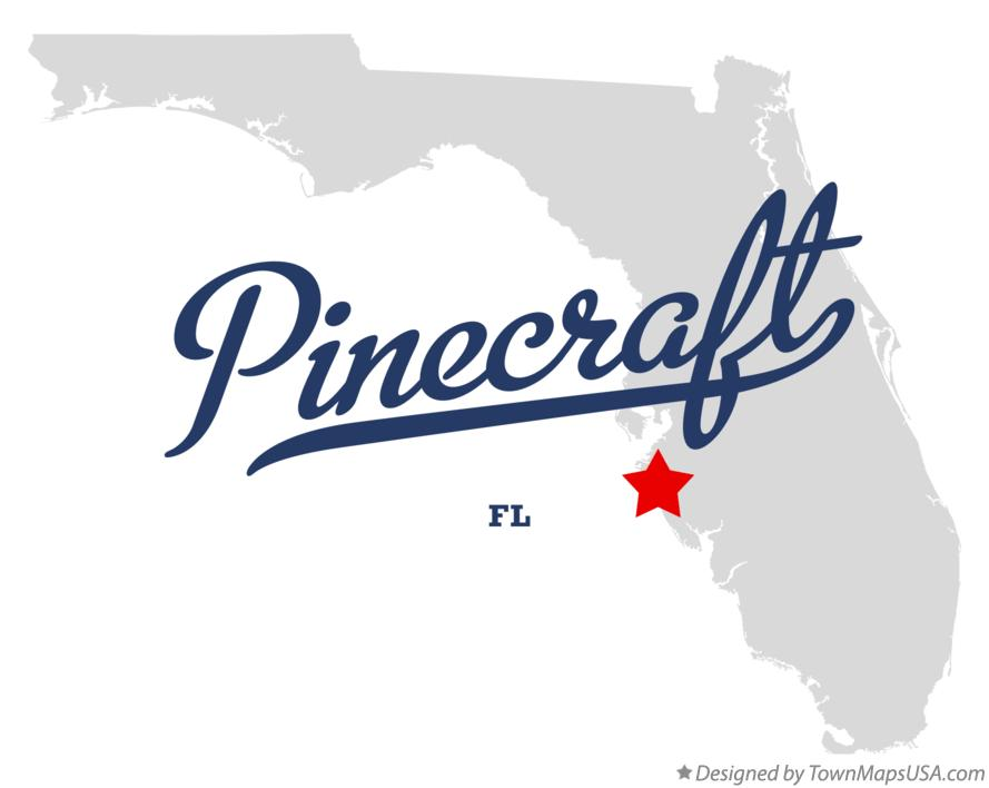 Map of Pinecraft Florida FL