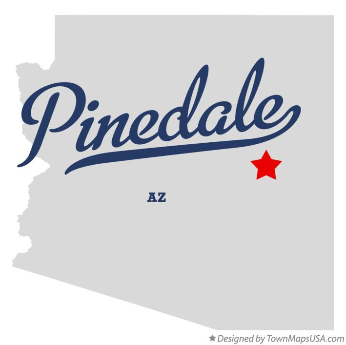 Map of Pinedale Arizona AZ