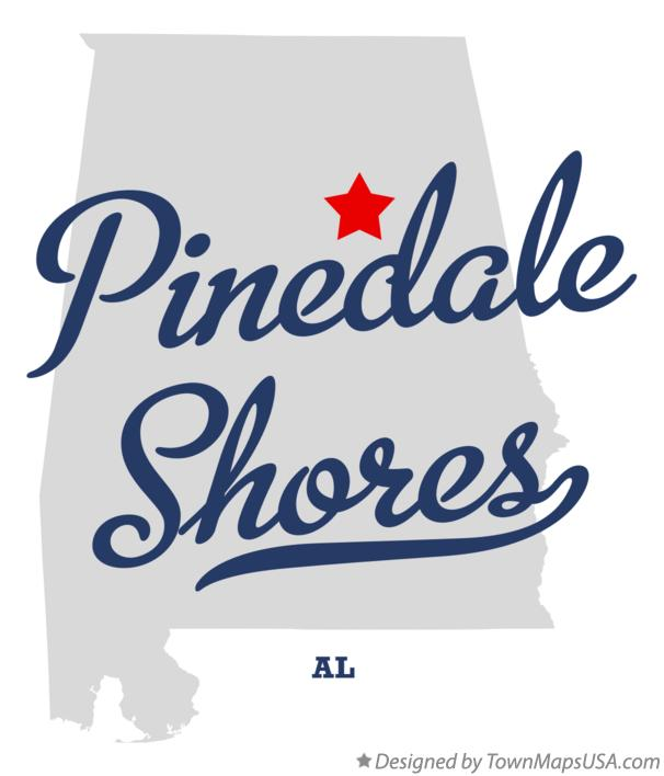 Map of Pinedale Shores Alabama AL