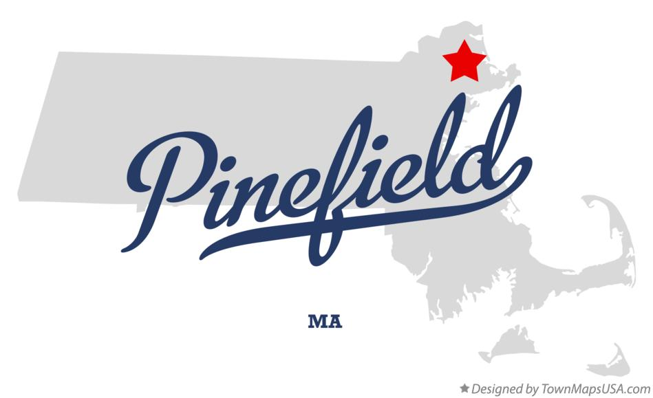 Map of Pinefield Massachusetts MA