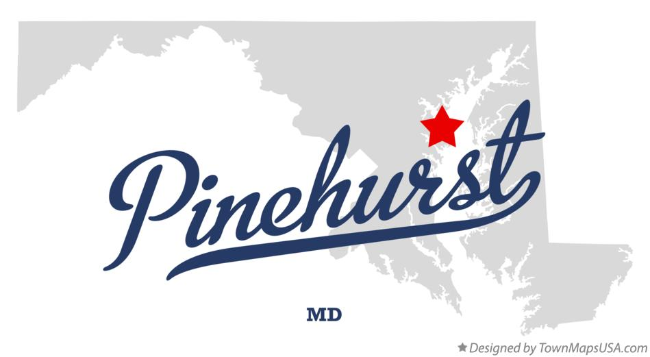 Map of Pinehurst Maryland MD