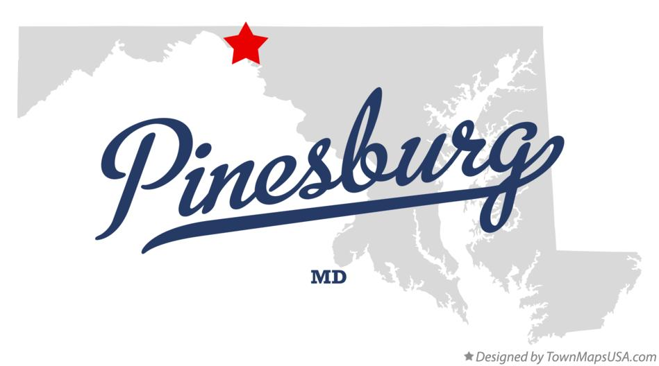 Map of Pinesburg Maryland MD