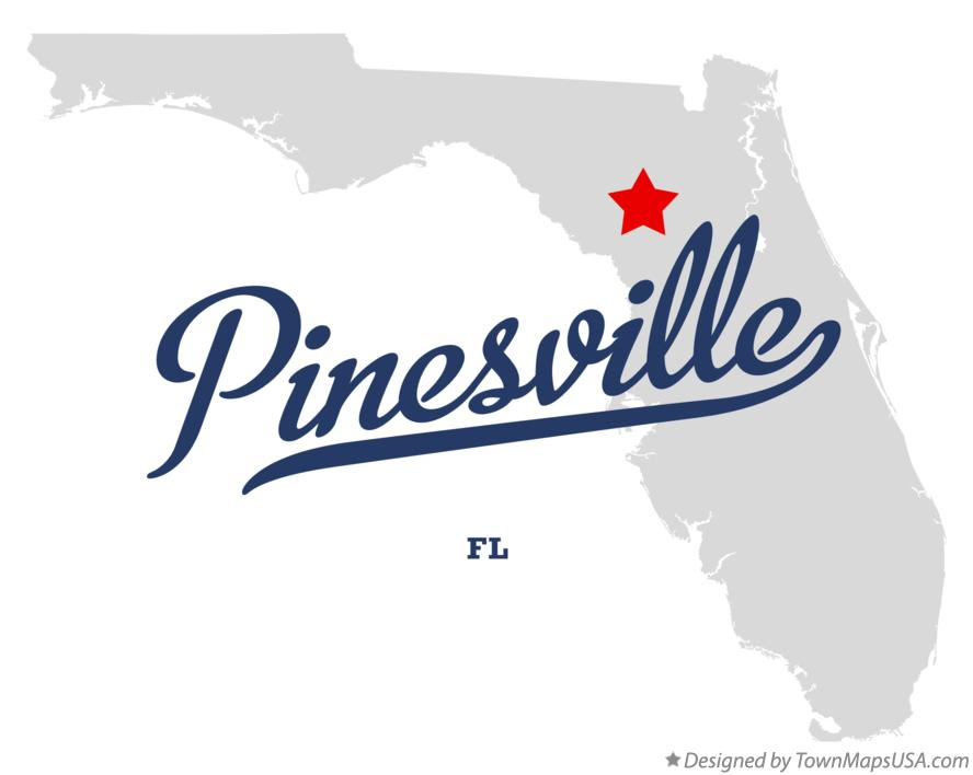 Map of Pinesville Florida FL