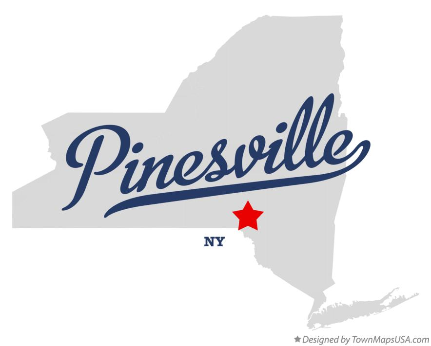 Map of Pinesville New York NY