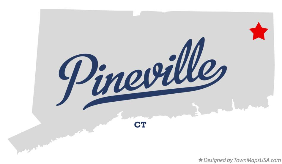 Map of Pineville Connecticut CT