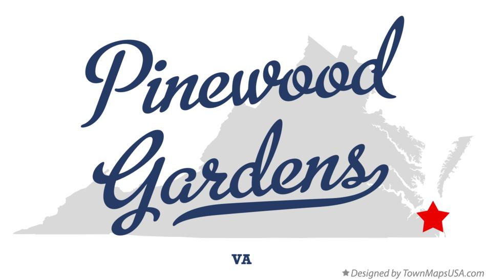 Map of Pinewood Gardens Virginia VA
