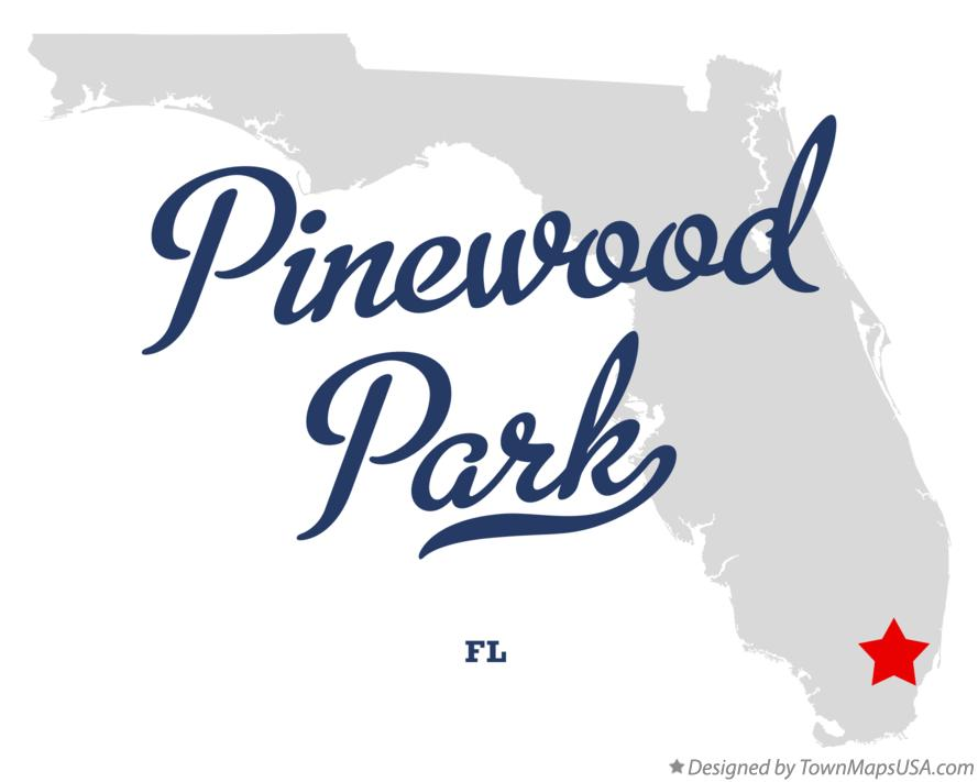 Map of Pinewood Park Florida FL