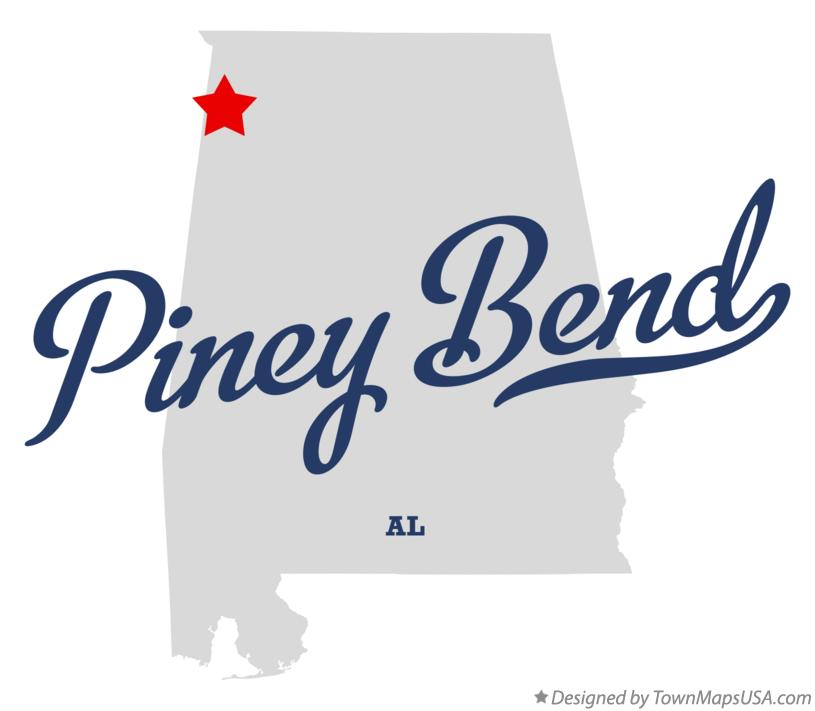 Map of Piney Bend Alabama AL