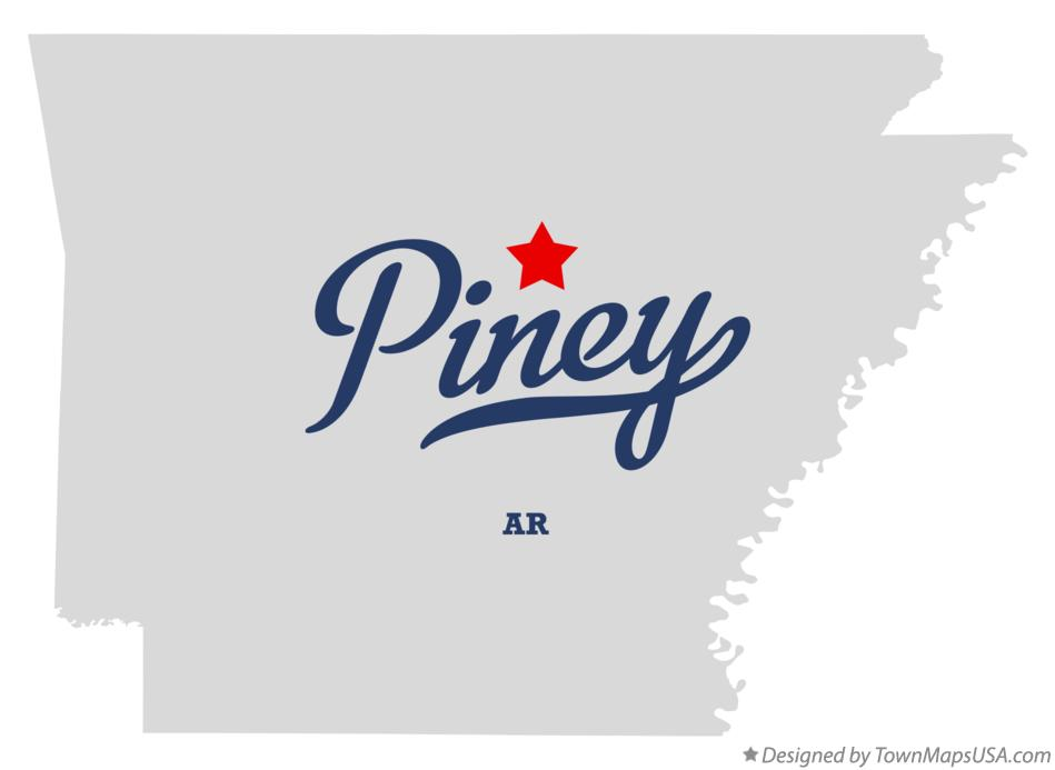 Map of Piney Arkansas AR