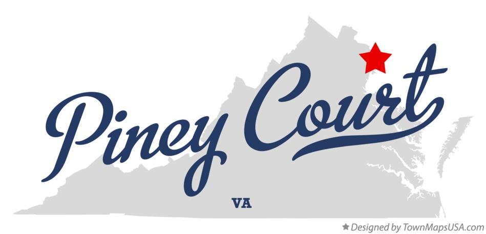 Map of Piney Court Virginia VA