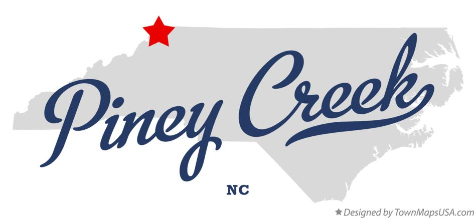 Map of Piney Creek North Carolina NC