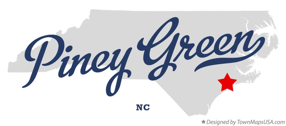 Map of Piney Green North Carolina NC