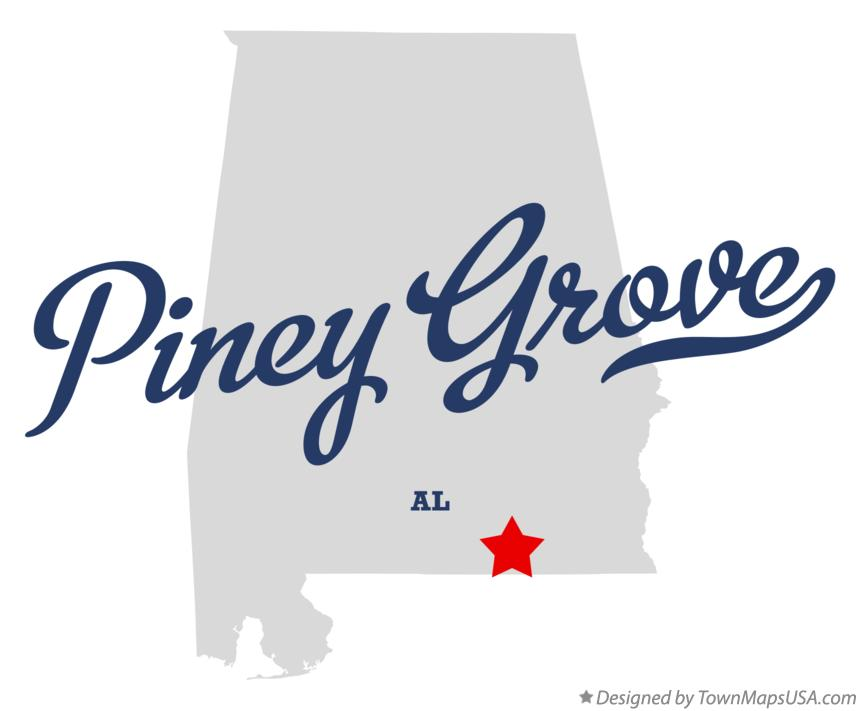 Map of Piney Grove Alabama AL