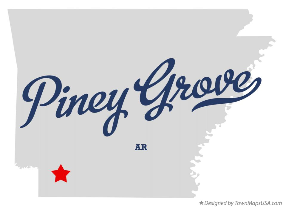 Map of Piney Grove Arkansas AR