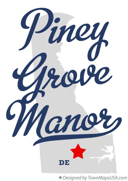 Map of Piney Grove Manor Delaware DE