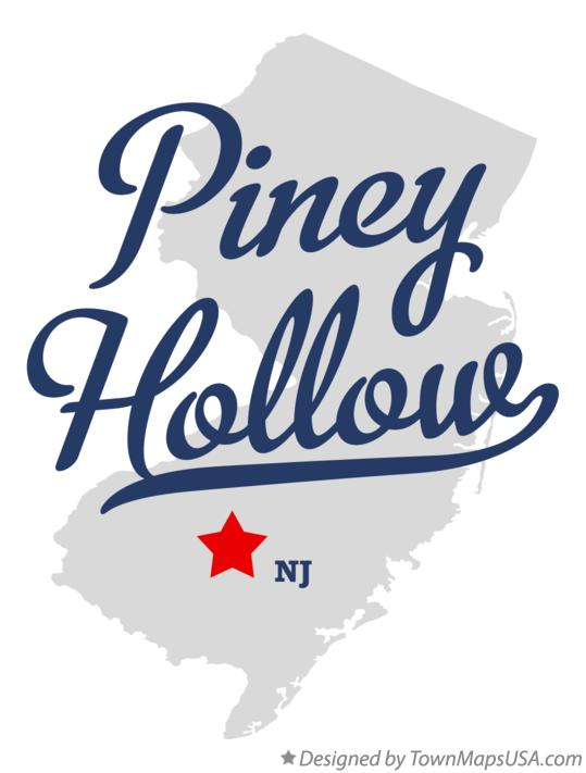 Map of Piney Hollow New Jersey NJ