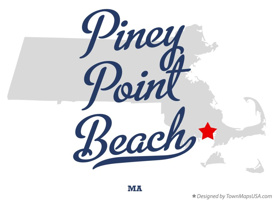 Map of Piney Point Beach Massachusetts MA