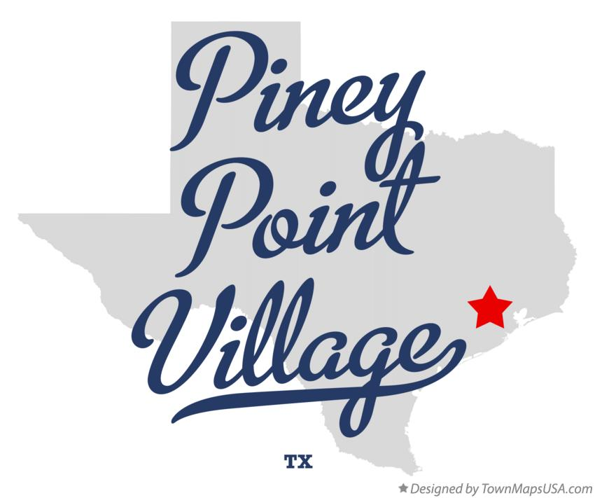 Map of Piney Point Village Texas TX