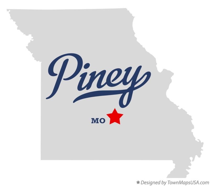 Map of Piney Missouri MO