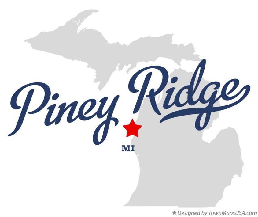 Map of Piney Ridge Michigan MI