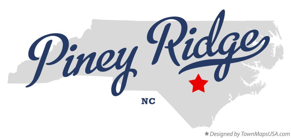 Map of Piney Ridge North Carolina NC