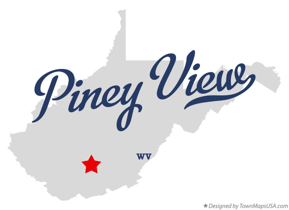 Map of Piney View West Virginia WV