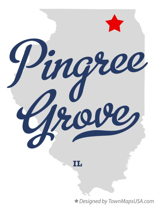 Map of Pingree Grove Illinois IL