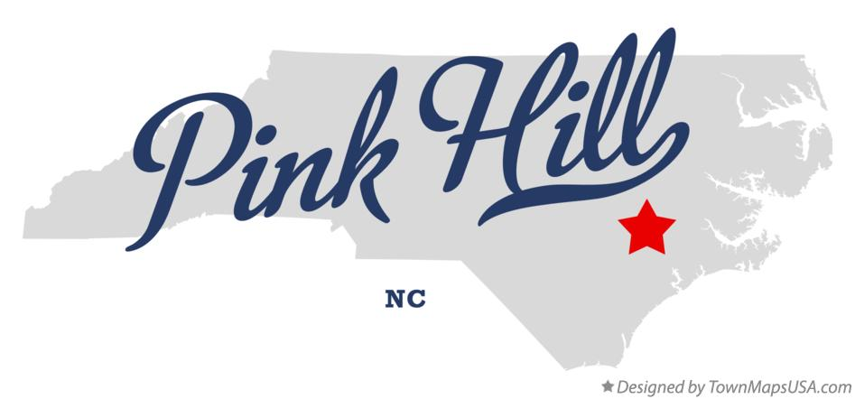 Map of Pink Hill North Carolina NC