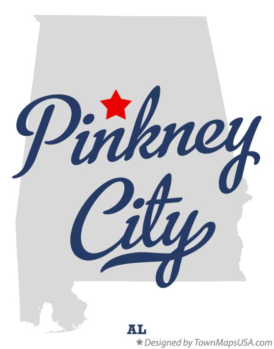 Map of Pinkney City Alabama AL