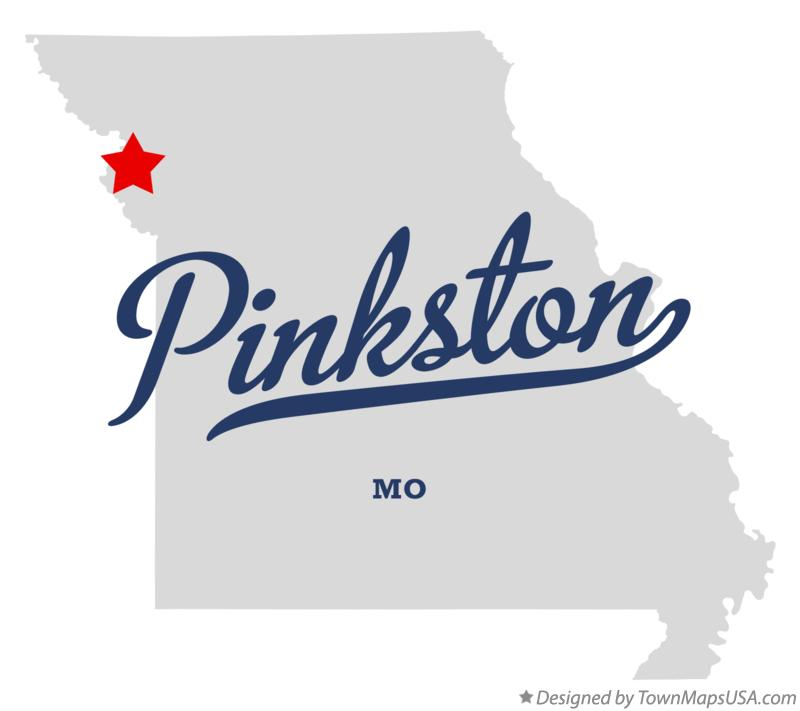 Map of Pinkston Missouri MO
