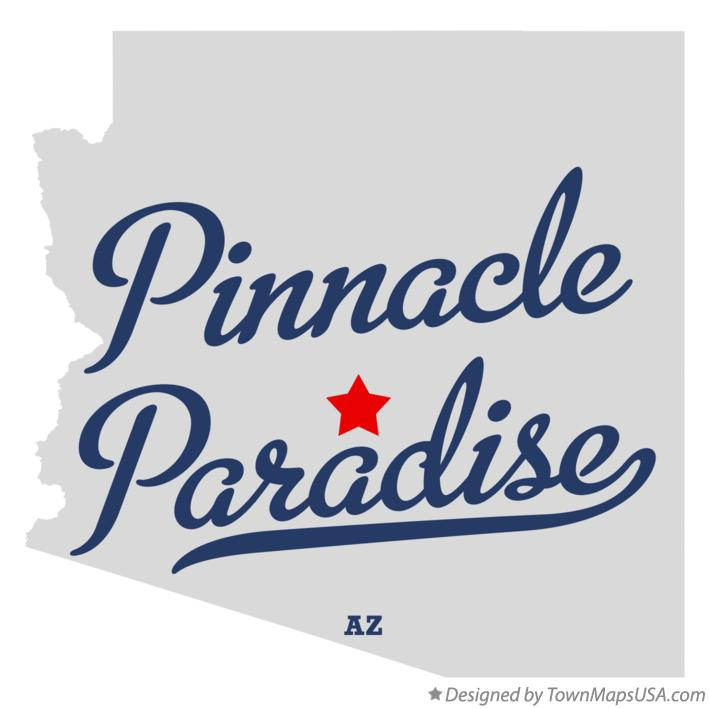 Map of Pinnacle Paradise Arizona AZ