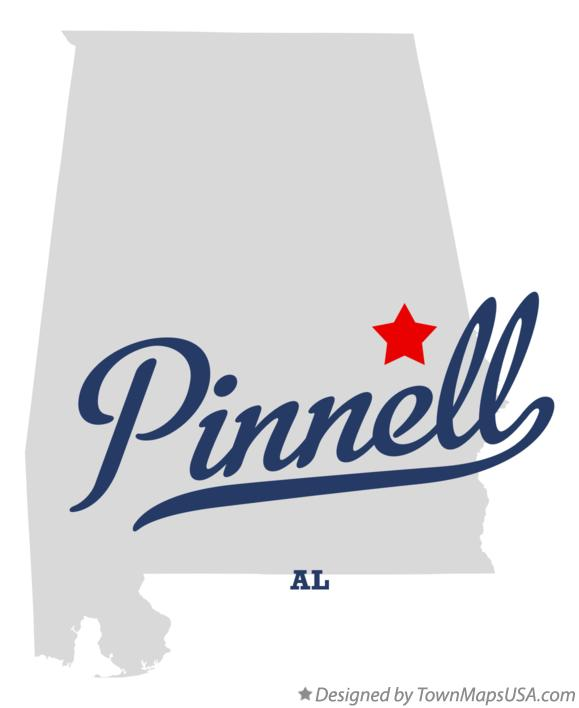 Map of Pinnell Alabama AL