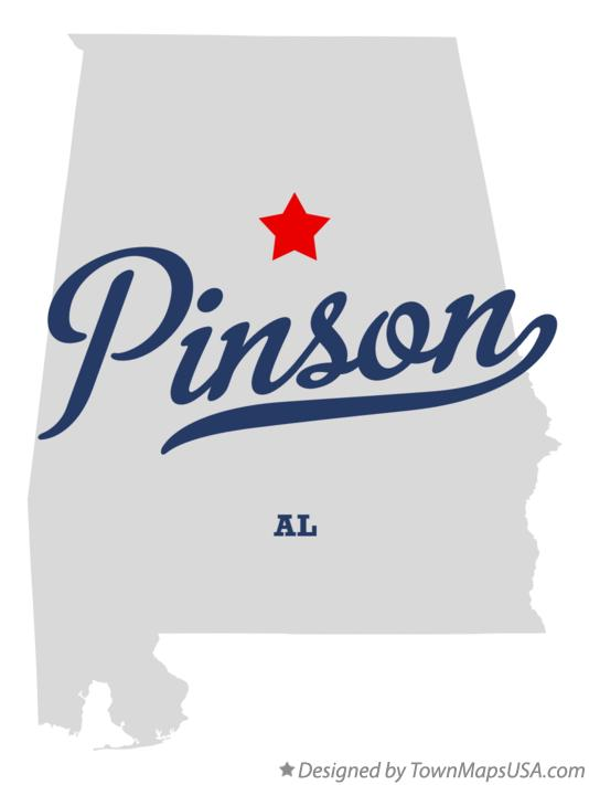 Map of Pinson Alabama AL