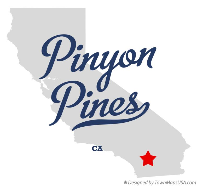 Map of Pinyon Pines California CA