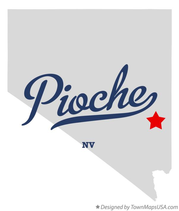 Map of Pioche Nevada NV