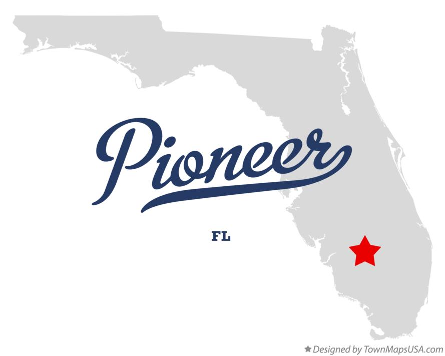 Map of Pioneer Florida FL