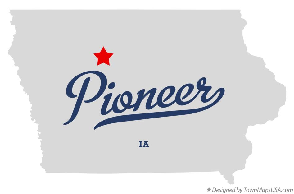 Map of Pioneer Iowa IA