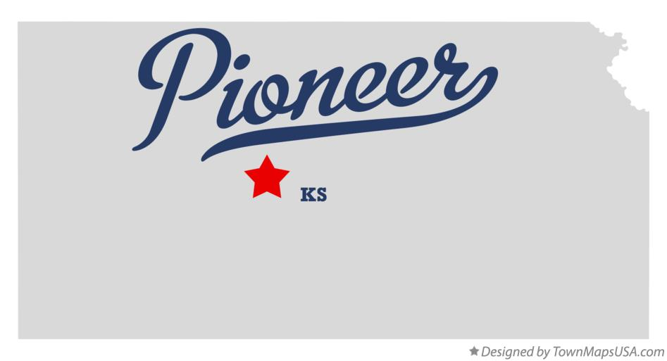 Map of Pioneer Kansas KS