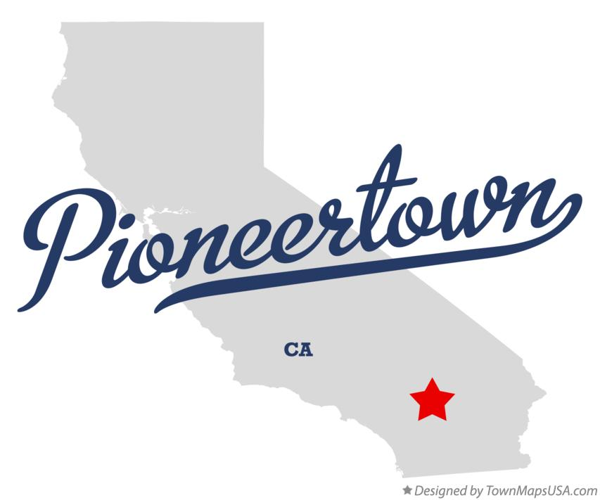 Map of Pioneertown California CA